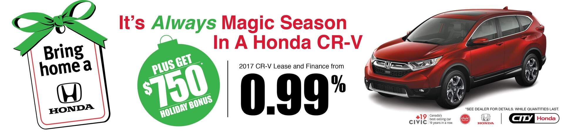 Bring Home A Honda CR-V
