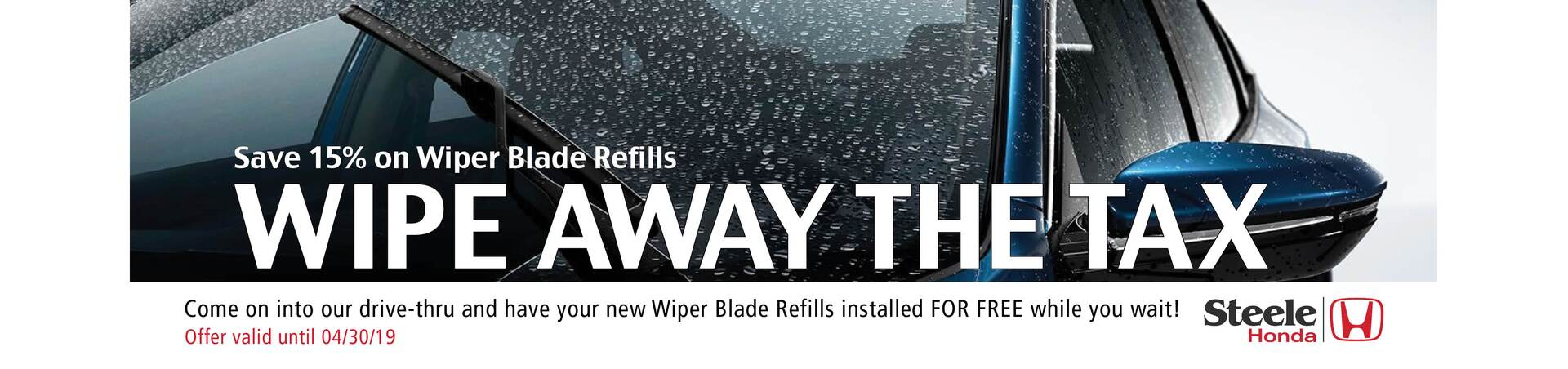 Save the tax on all wiper blade refills!