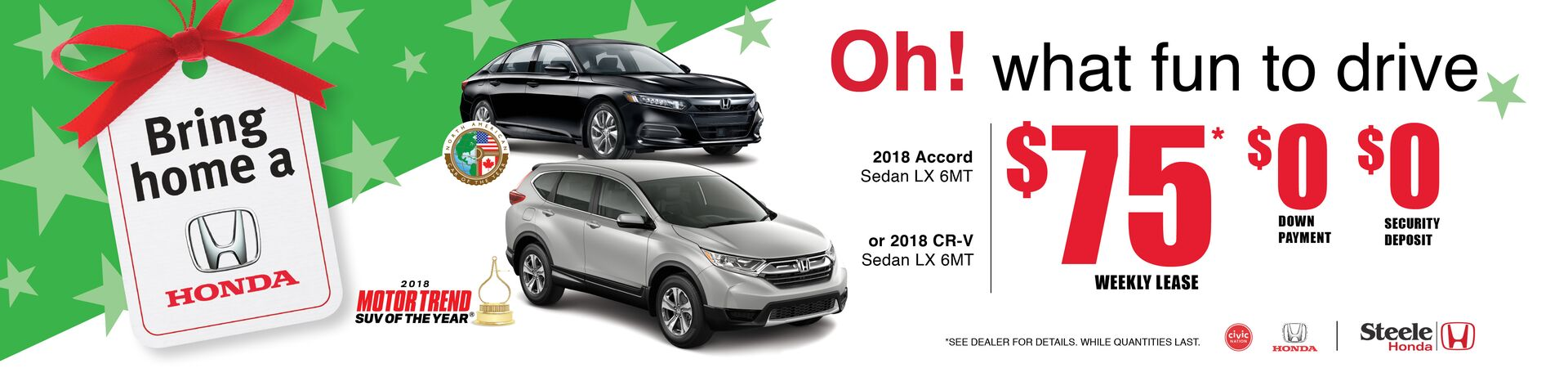 Bring Home a Honda CR-V/Accord