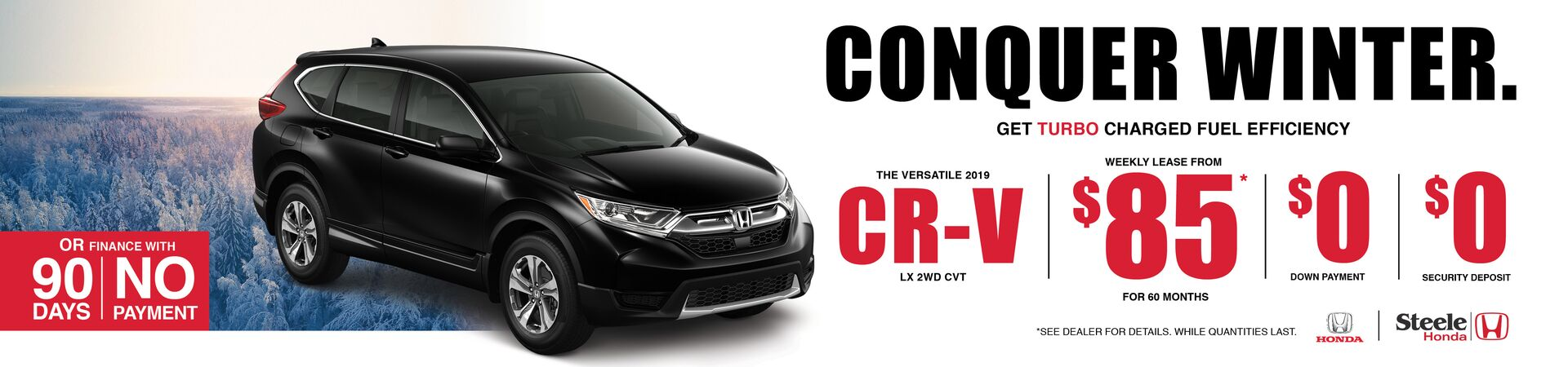 Conquer Winter with the 2019 CR-V
