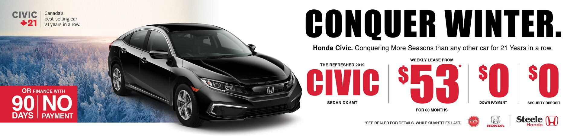 Conquer Winter with the 2019 Civic