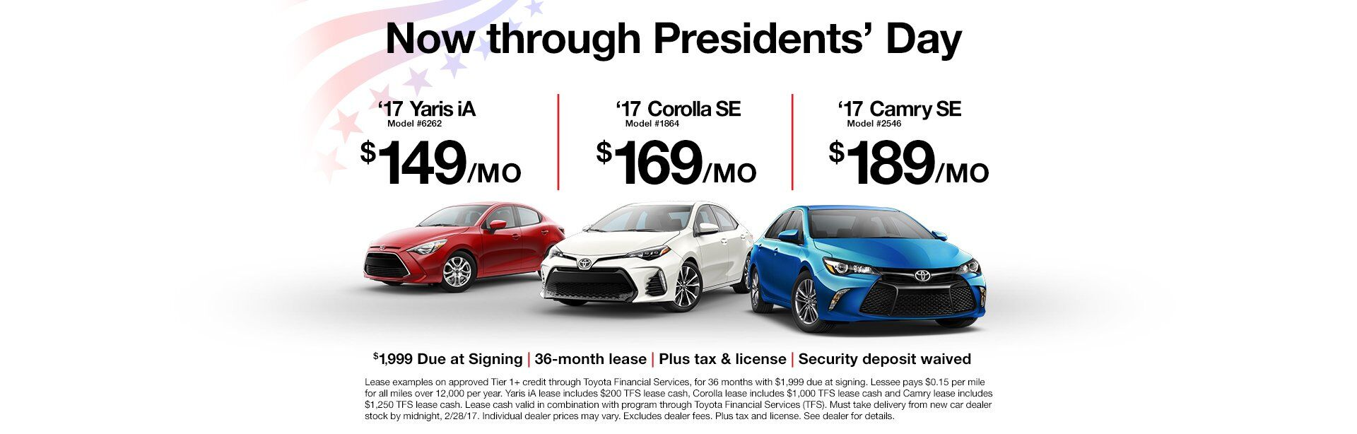 President's Day Lease Deal