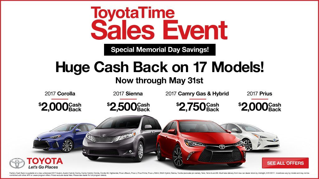 ToyotaTime Memorial Day Savings