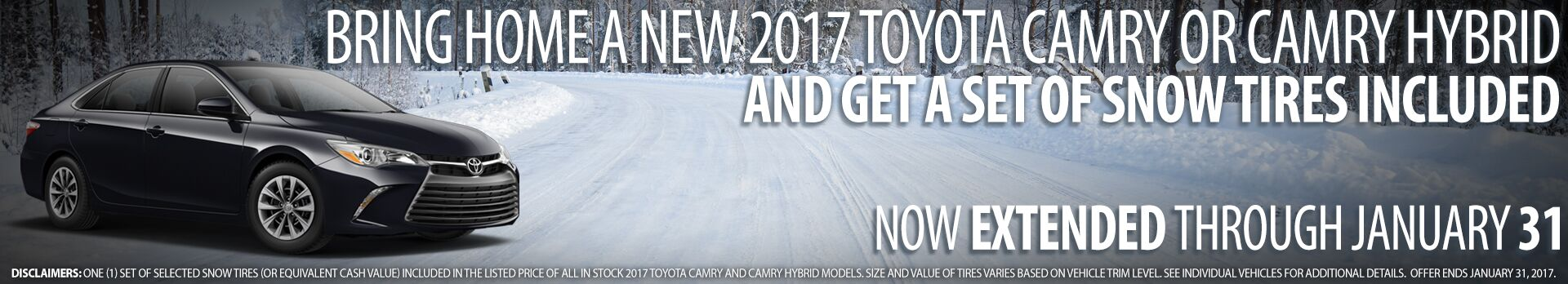 2017 Camry Snow Tires