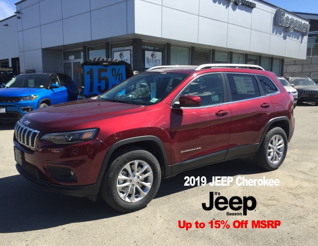 15% Off the MSRP on the 2018/2019 JEEP Cherokee and Grand Cherokee!