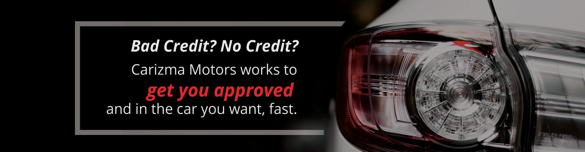 Carizma Motors - Get Approved