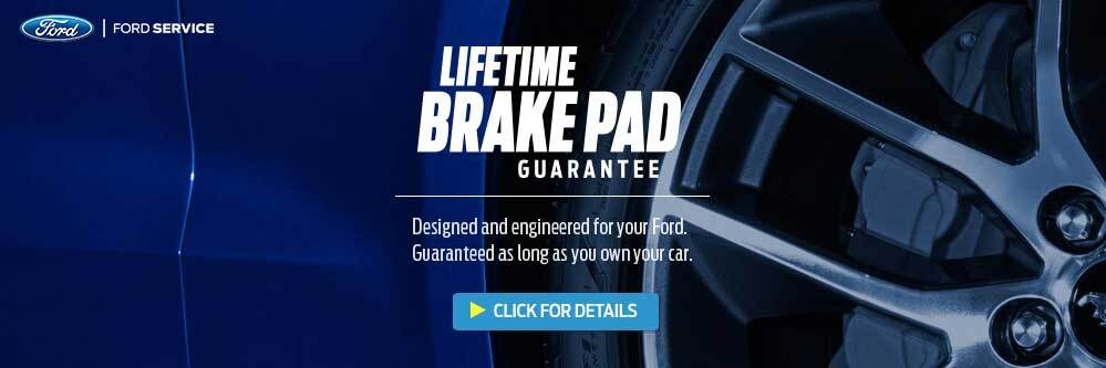 Kovatch Ford Lifetime Brake pad Gaurantee