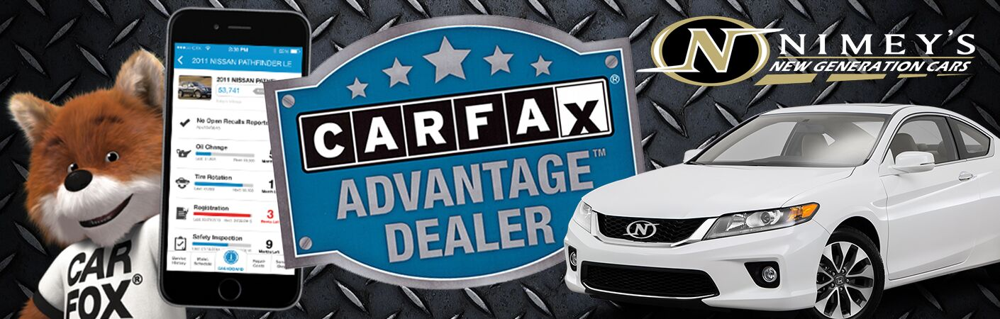 We are a Carfax Advantage Dealer