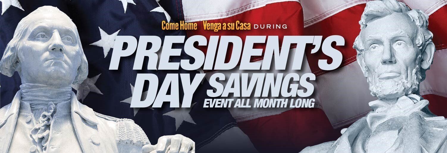 Presidents Savings Event All Month Long