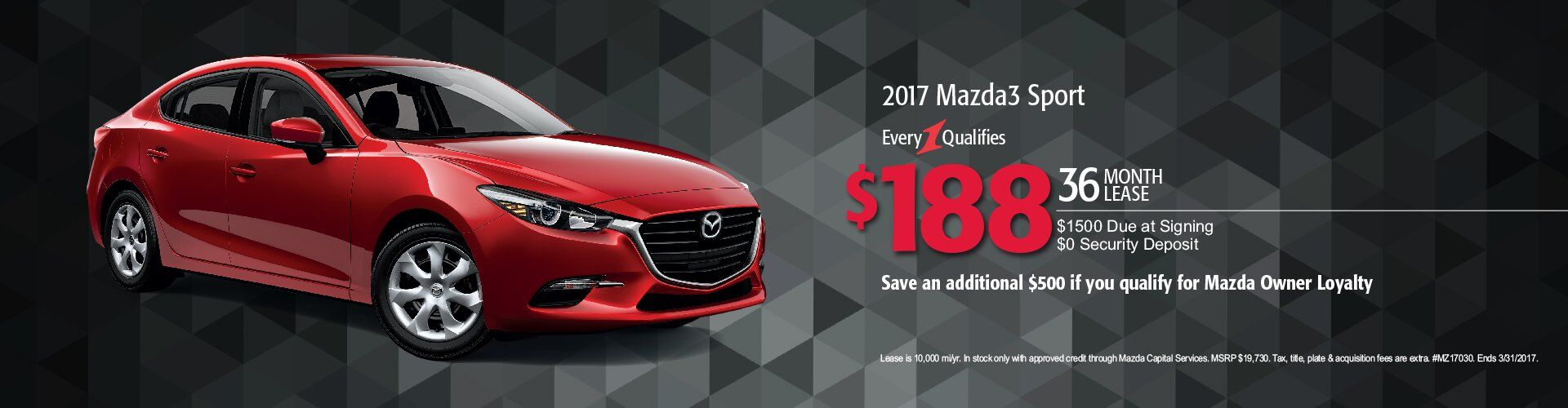2017 Mazda3 Sport Lease Monroeville PA