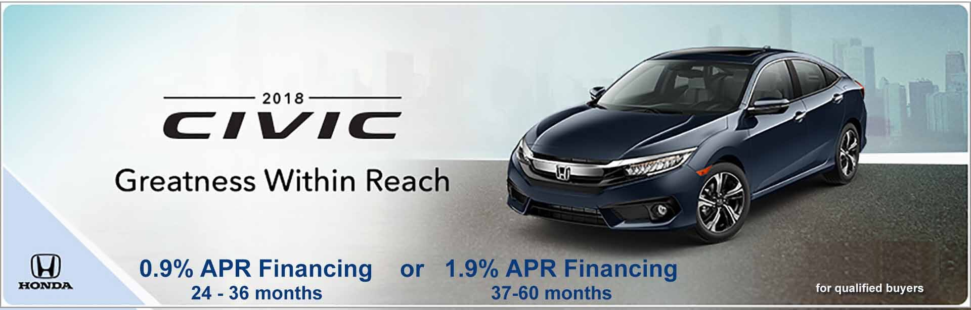 2018 Civic 0.9% APR