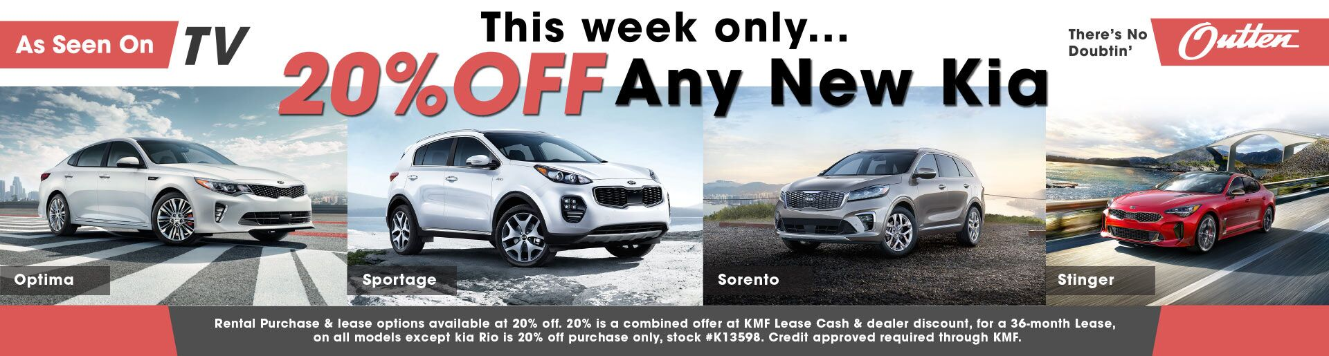 20% off any new Kia