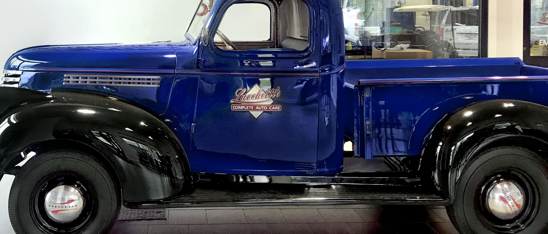 Big Blue Antique Truck