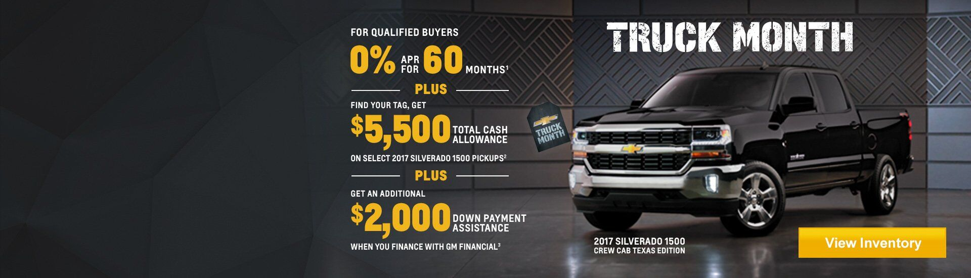 Chevy Truck Month Offer