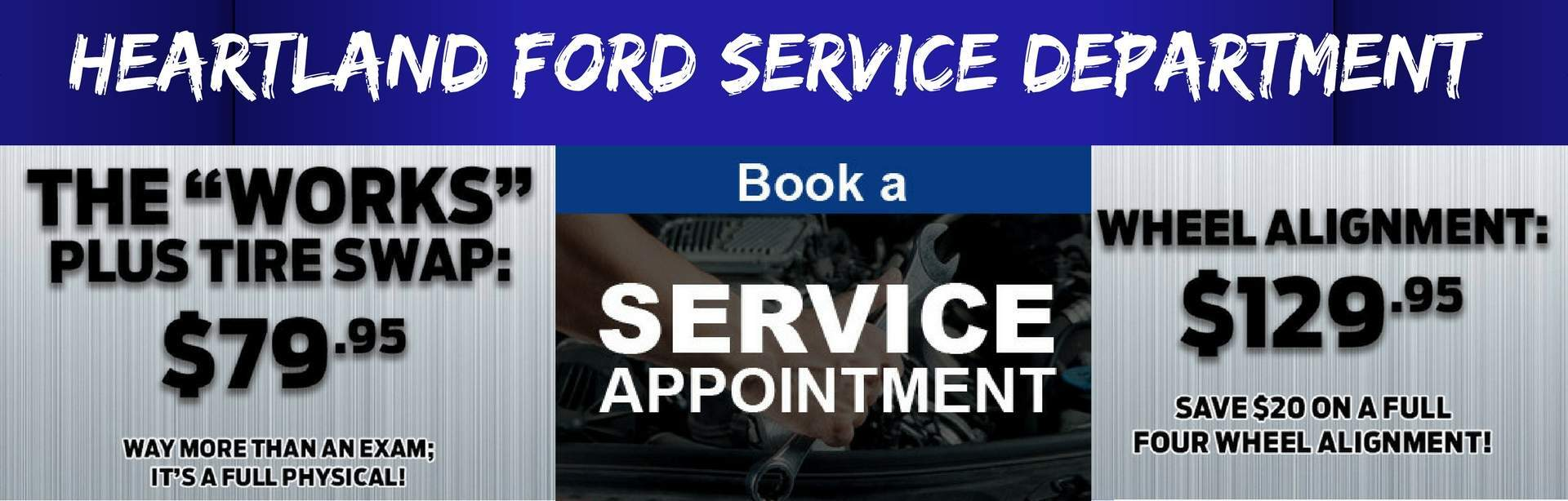 Book appointment now at Heartland Ford Sales