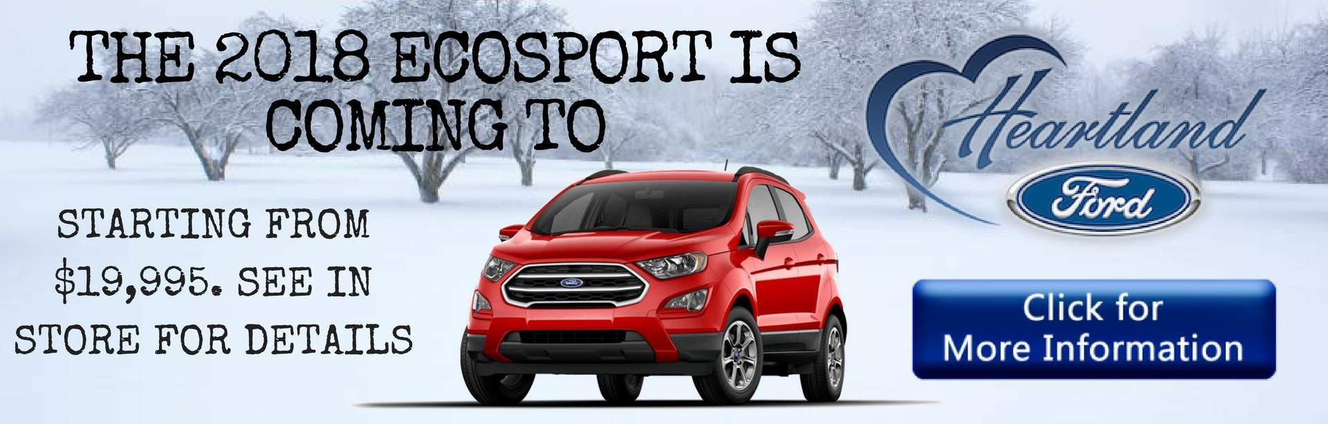 2018 Ford Ecosport Heartland Ford Sales