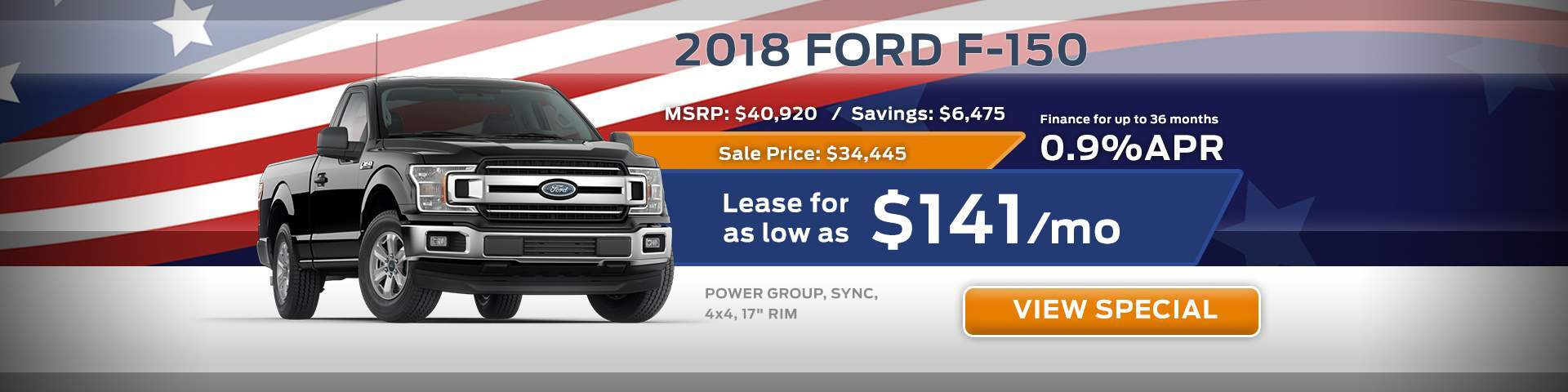 2018 Ford F-150 Special