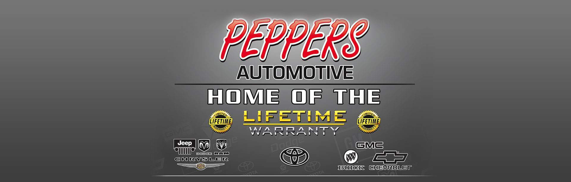 Peppers Automotive - Home of the Lifetime Warranty