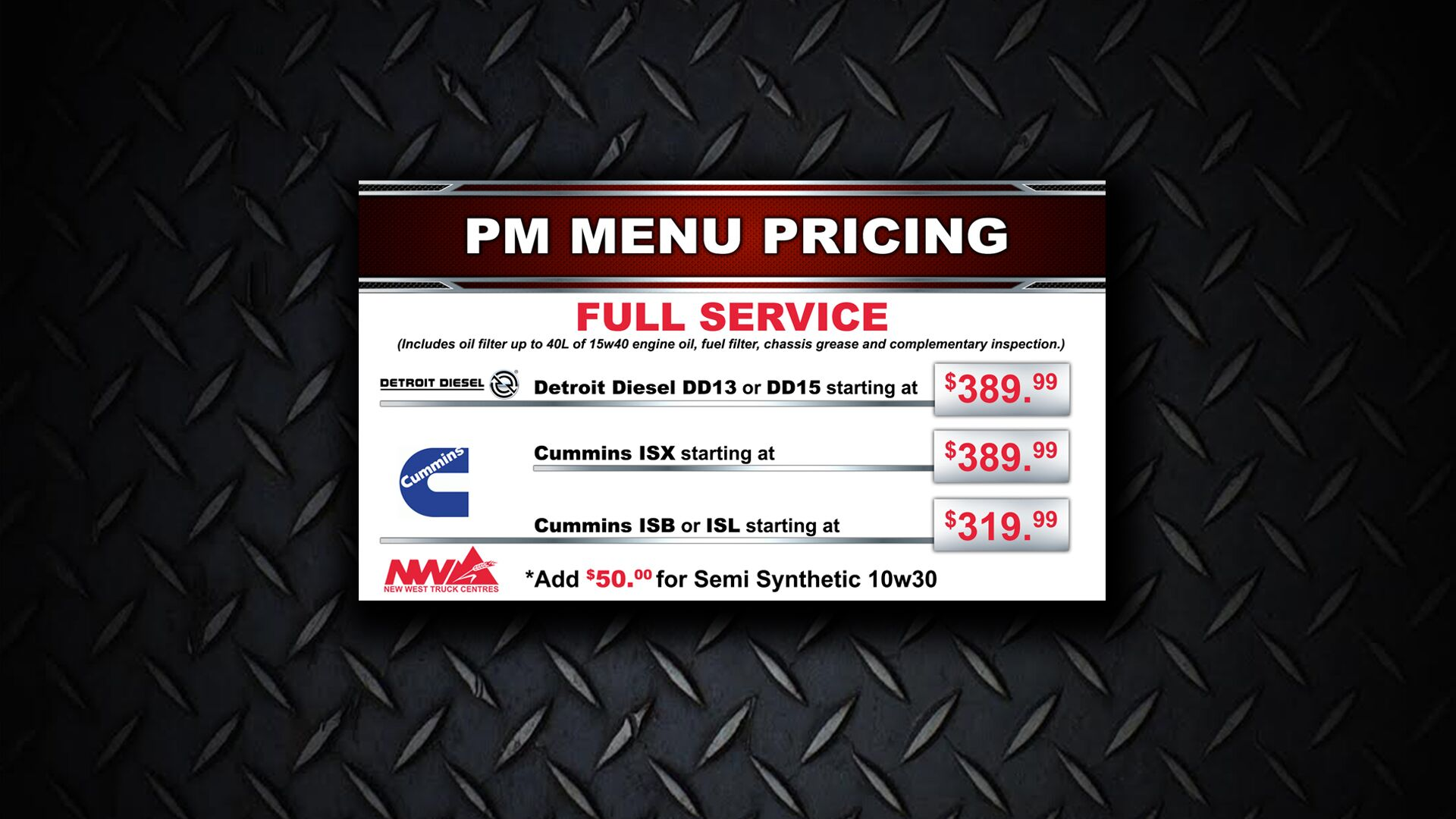 PM Pricing