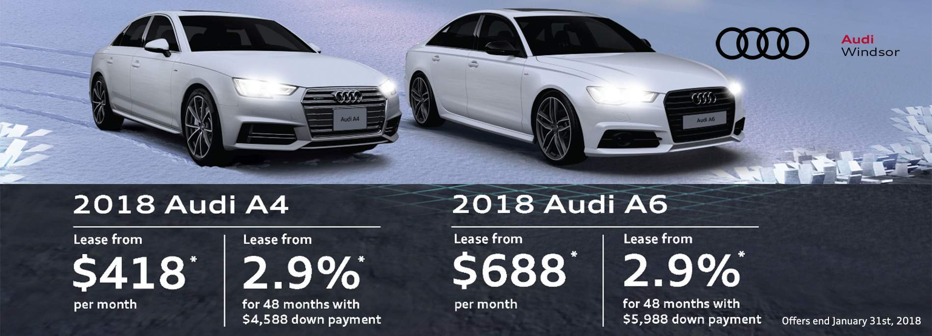 Audi Windsor January 2018 Sales Event