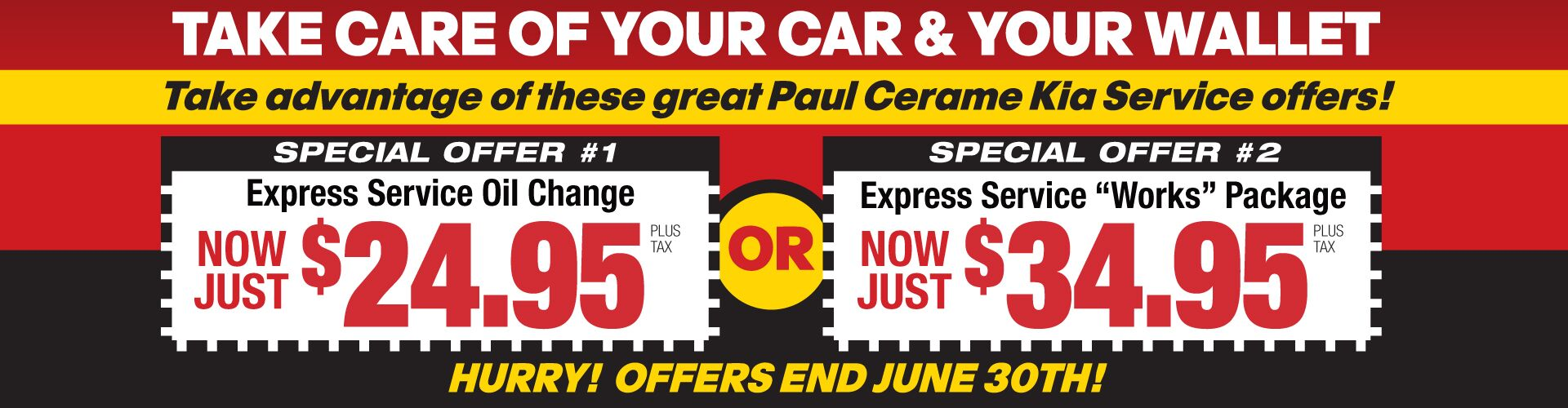 June Oil Change Special