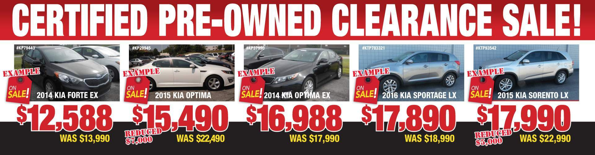Kia Certified Vehicle! Going Fast!