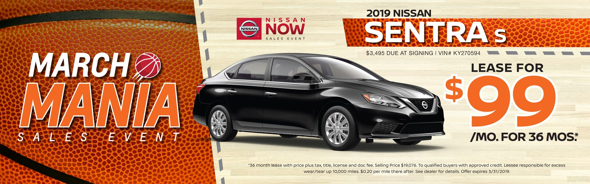 March Sentra HP Banner