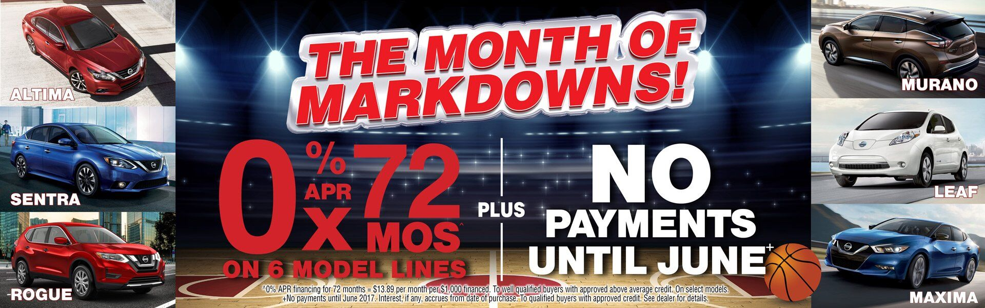 the month a markdowns