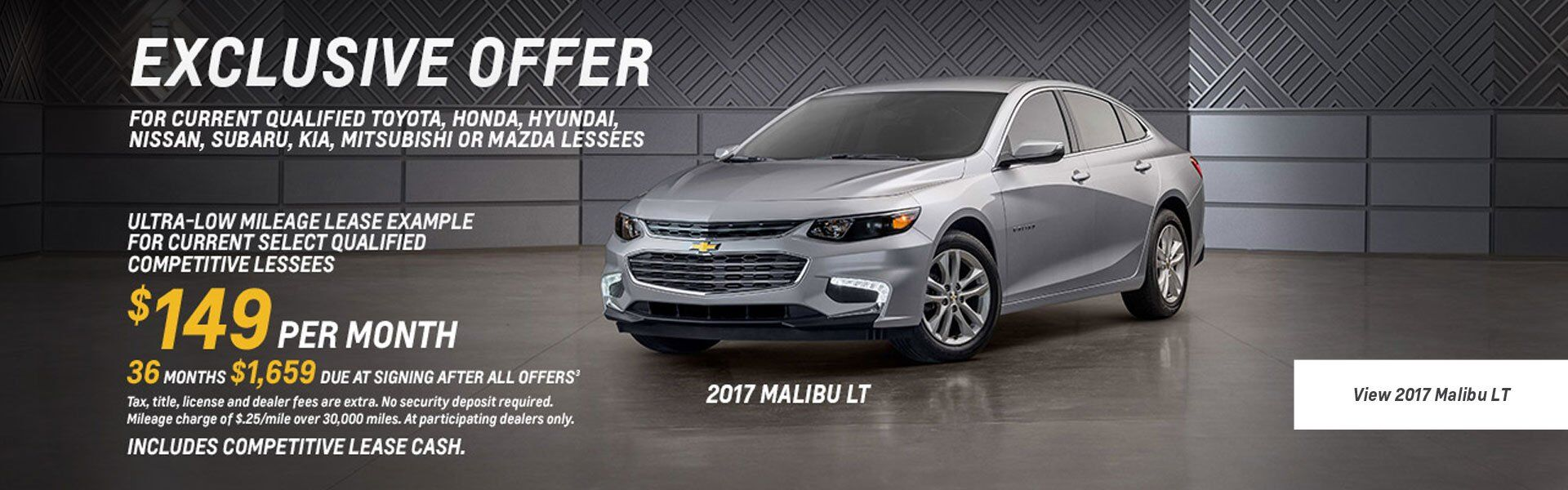 2017 Chevy Malibu Lease Offer March