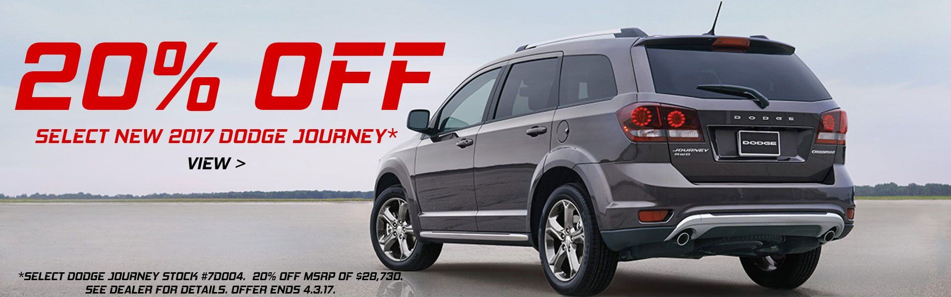Dodge Journey 20% Off