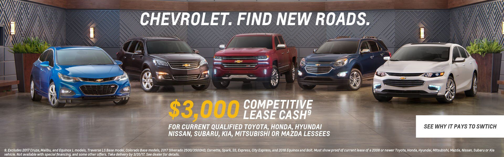 Chevy Competitive Lease Cash