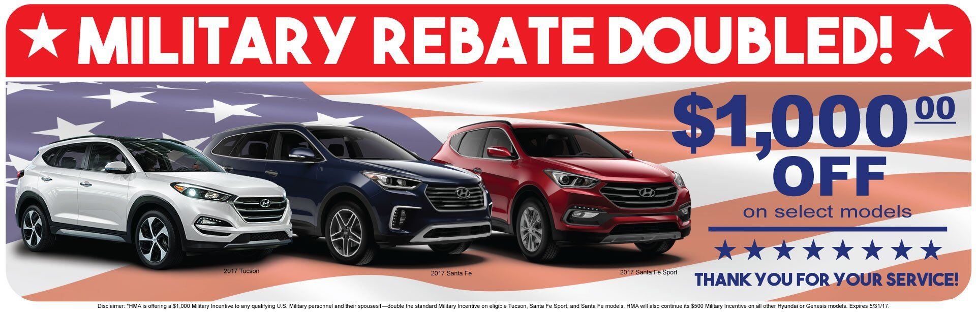 Double Military Rebate