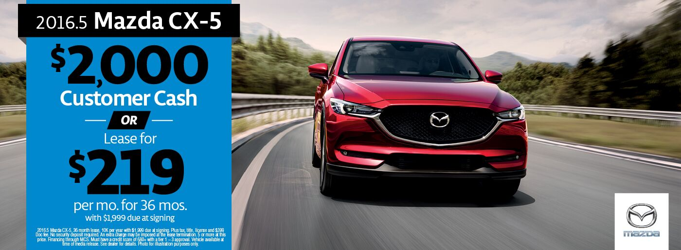 2016.5 CX-5 CC or lease