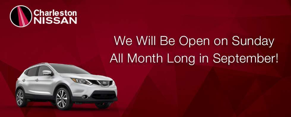 Charleston Nissan Will Be Open Sundays in September in Murfreesboro TN