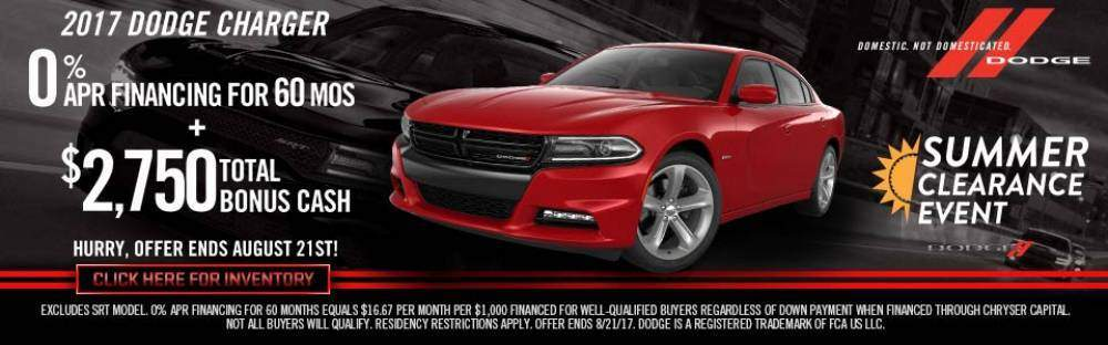 Dodge Charger Summer Clearance Event