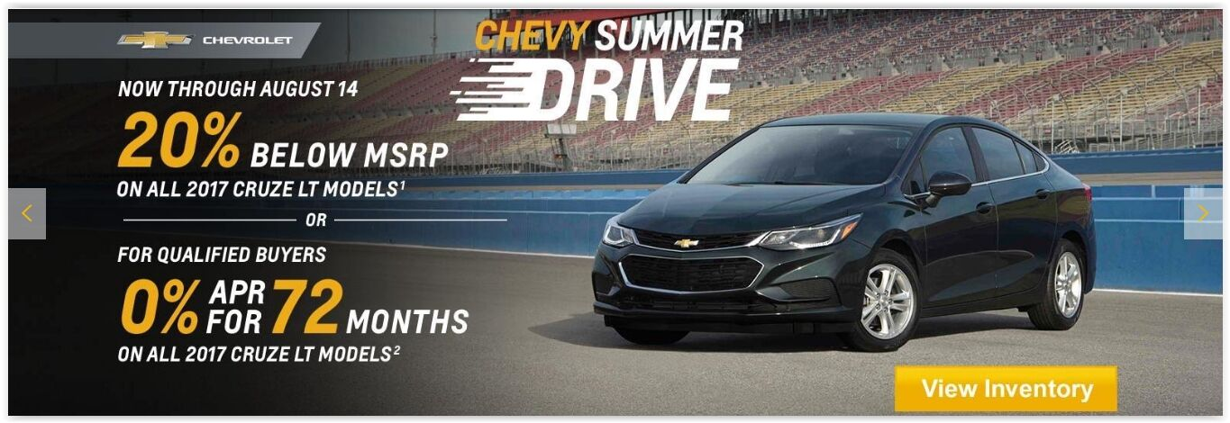 20% Below MSRP 2017 Cruze LT