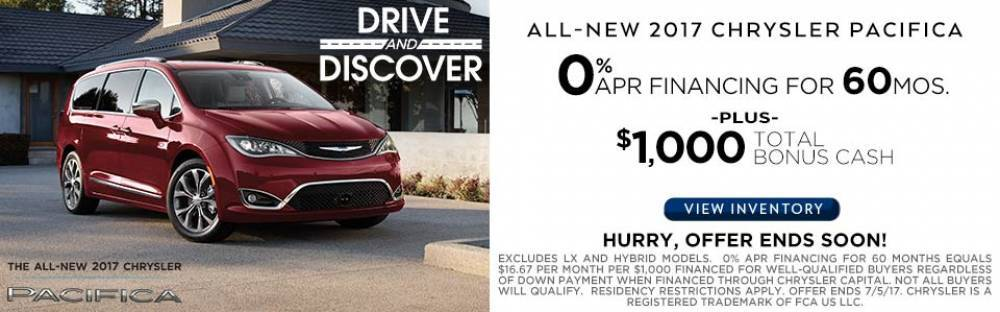 2017 Chrysler Pacifica June Sale