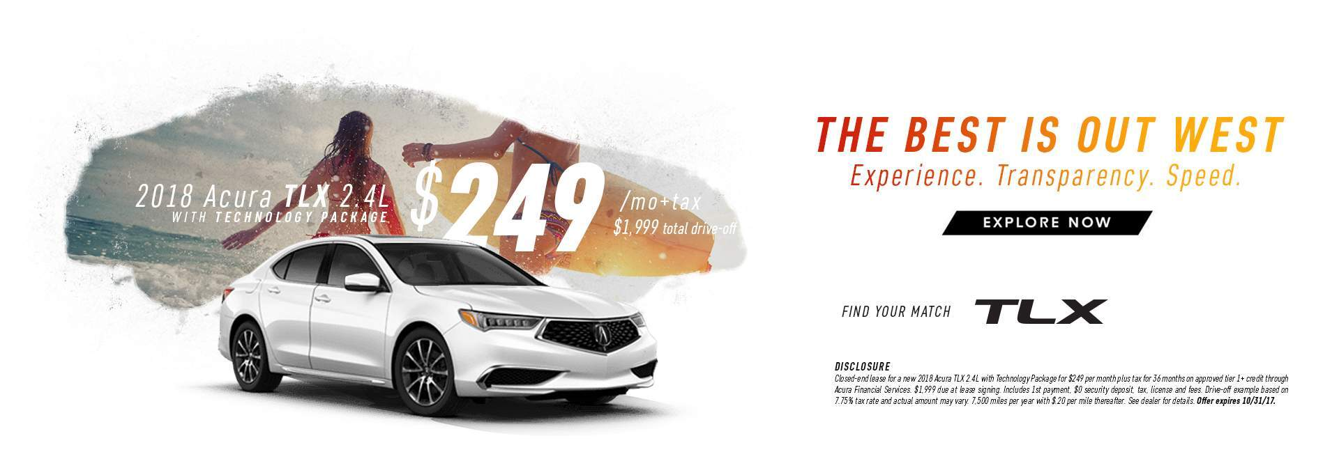 2018 TLX Lease Special