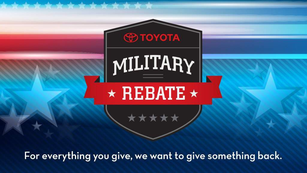 Toyota Military Rebate at Salinas Toyota