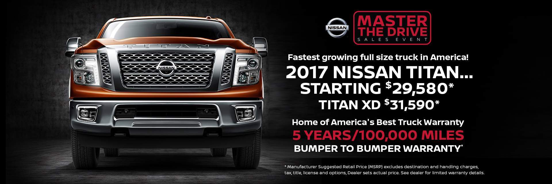 Master the drive sales event 2017 Nissan Titan