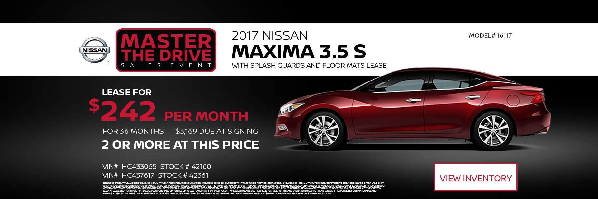 Master the drive 2017 Nissan Maxima 3.5 S