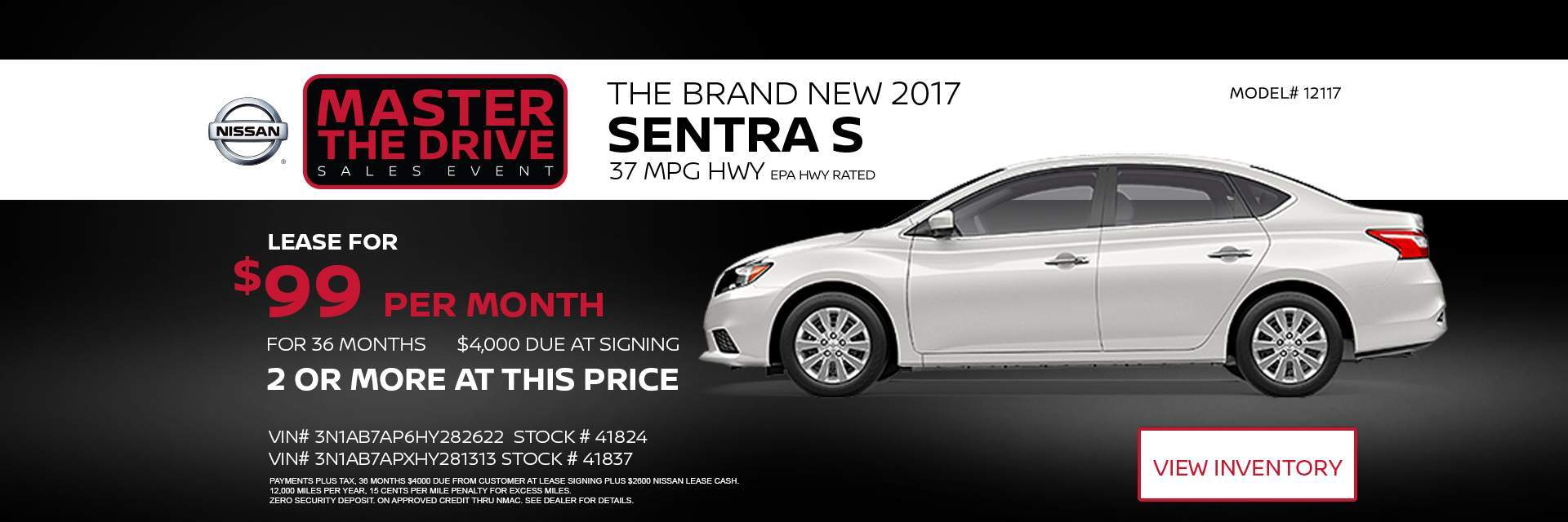Master the Drive sales event 2017 Sentra S