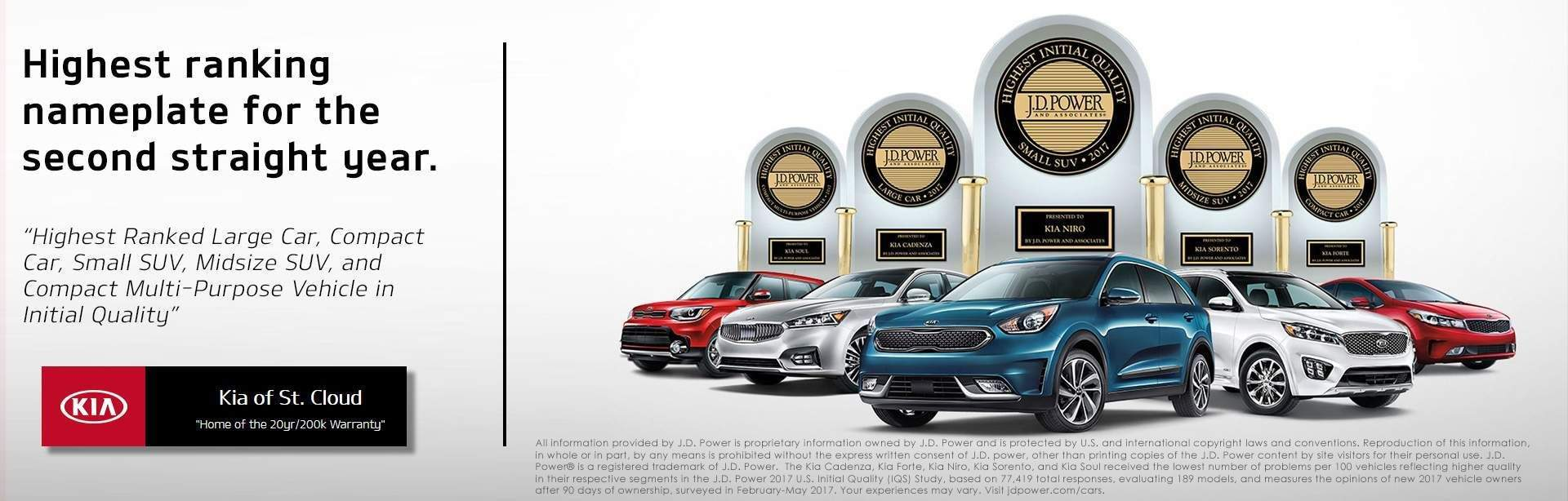 Kia JD Powers Awards