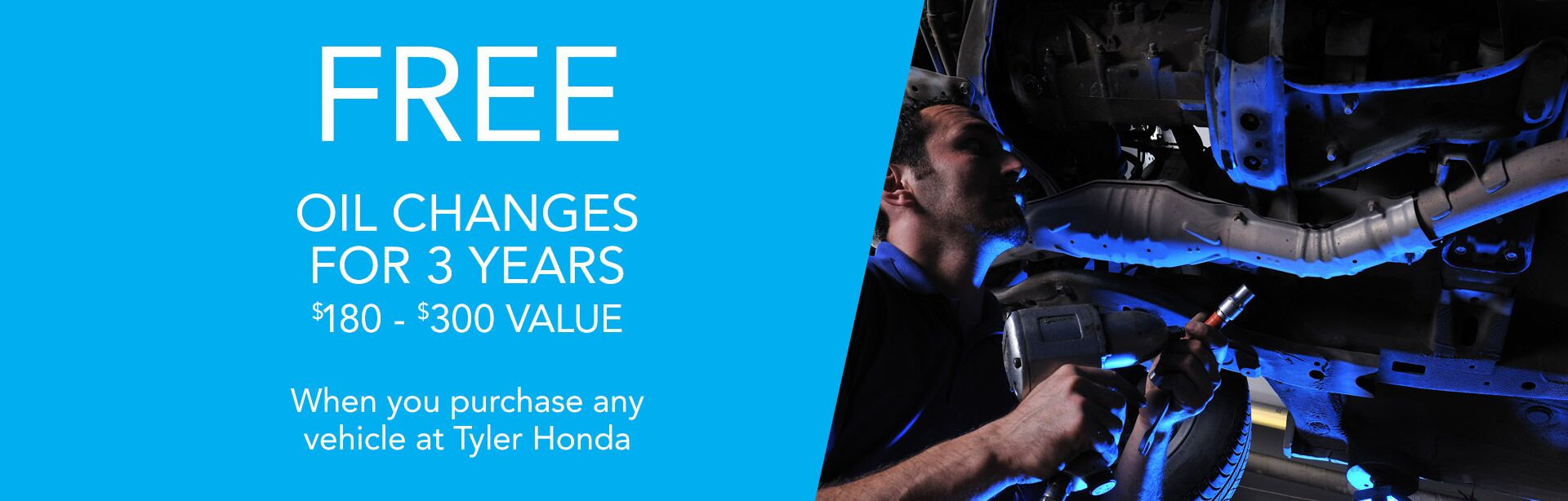 Free oil change for 3 years