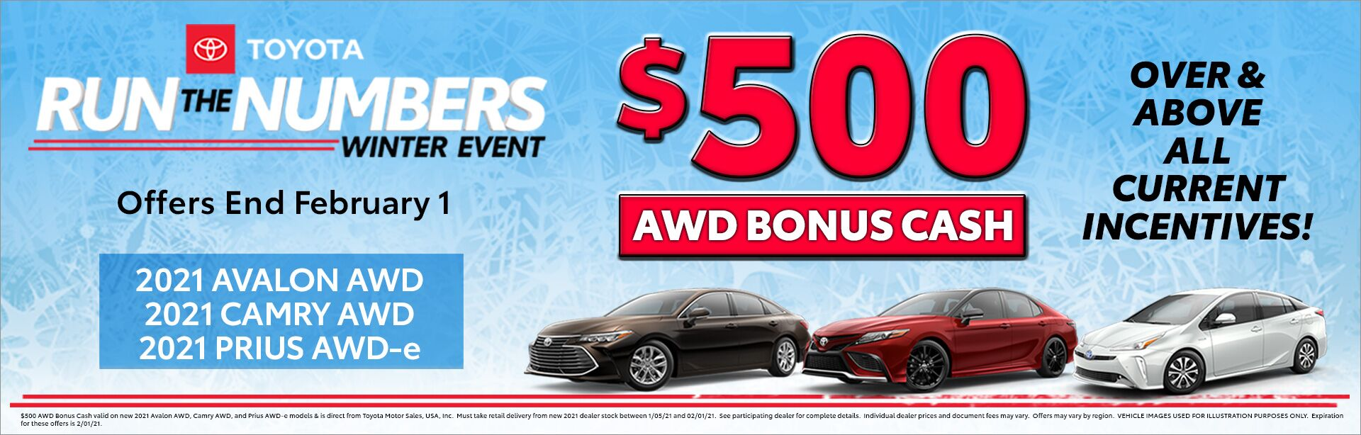 AWD Run the Numbers Bonus Cash