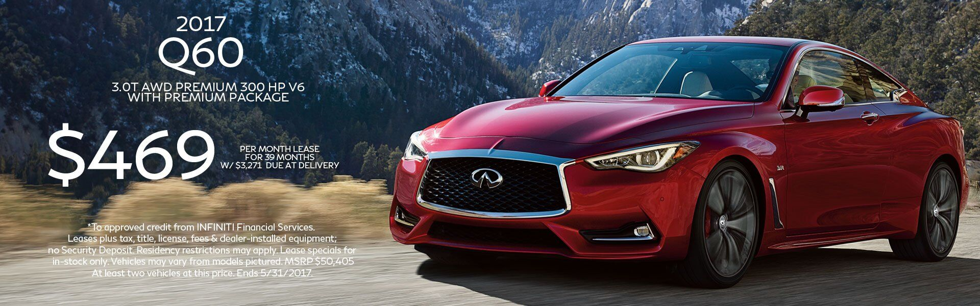 May Q60 Lease Offer