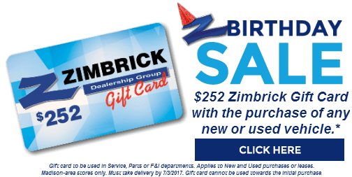 Zimbrick Birthday Sale