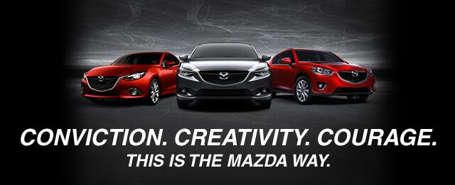 Conviction. Creativity. Courage. - This is the Mazda way.