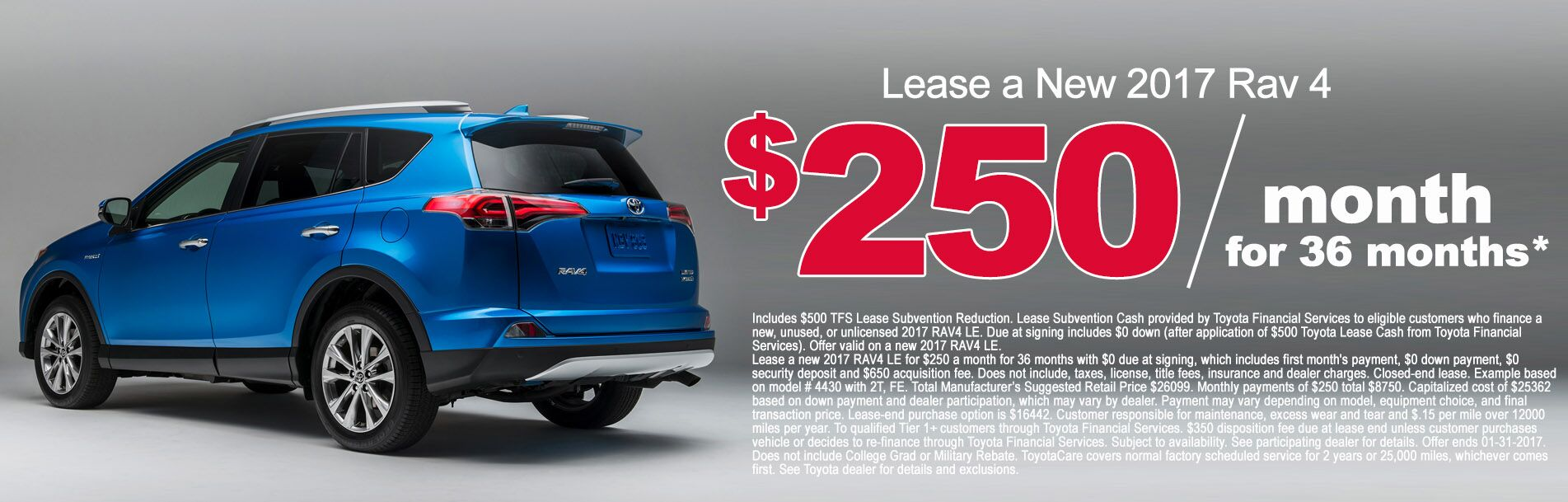 2017 Rav 4 Lease Deals at Rochester Toyota