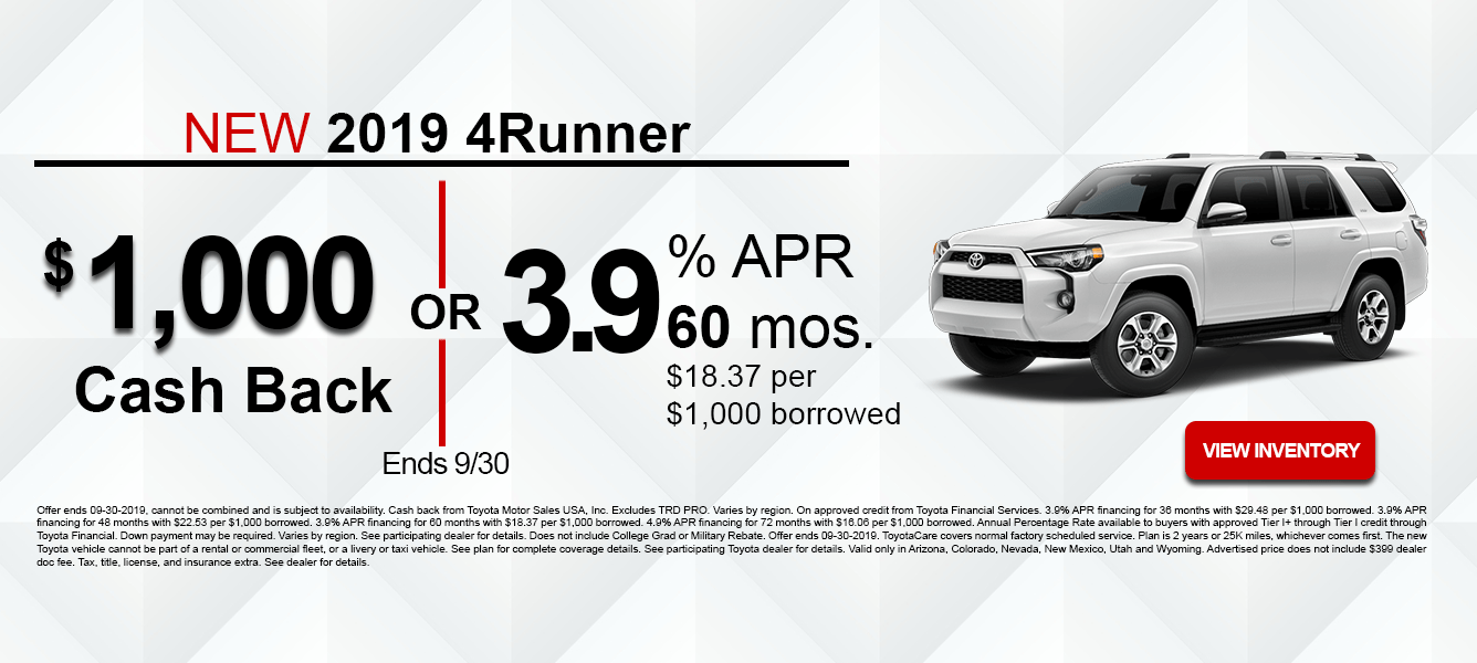 09-19 4Runner Incentives
